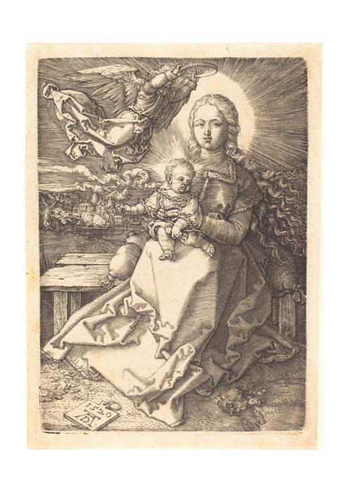 Albrecht Durer - The Virgin and Child Crowned by One Angel