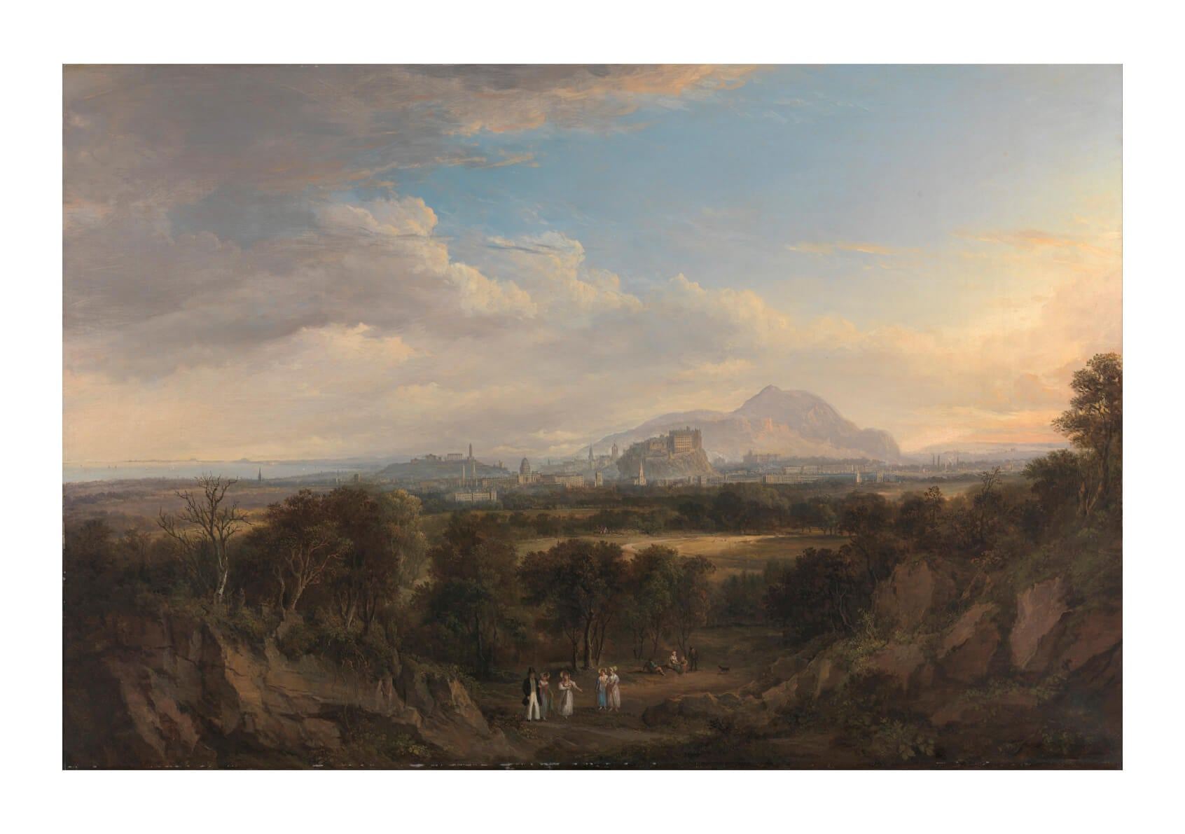 Alexander Nasmyth - A View Of Edinburgh From The West