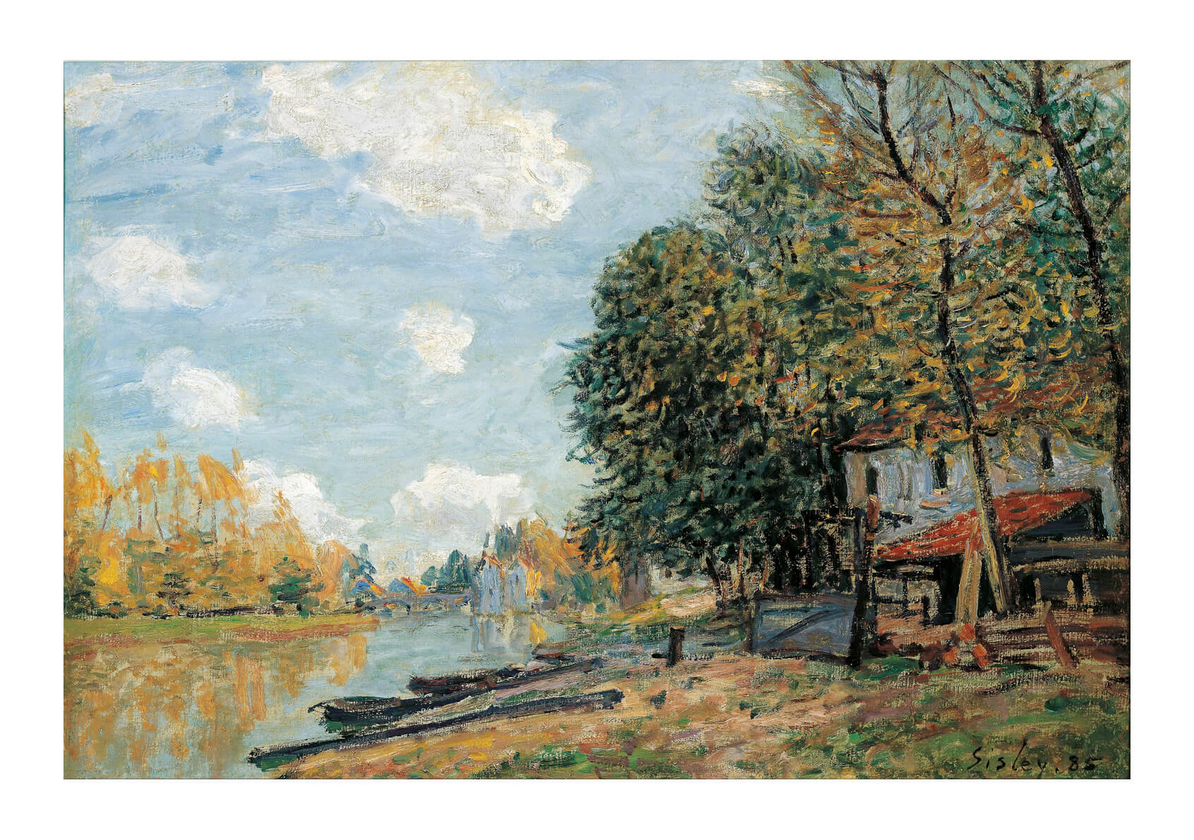 Alfred Sisley - Moret The Banks of the River Loing 1877