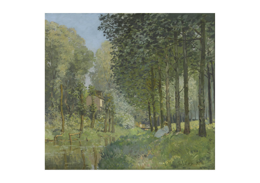 Alfred Sisley - Rest Along The Stream. Edge Of The Wood