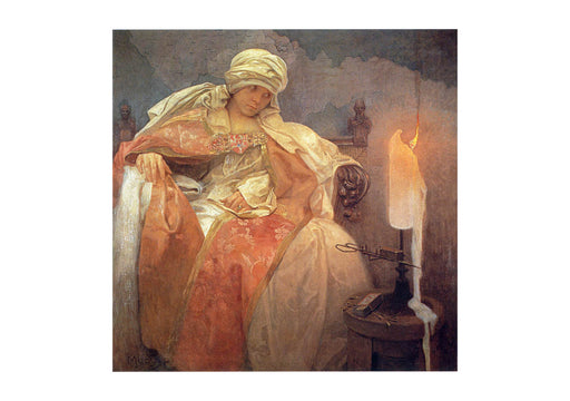 Alphonse Mucha - Woman with a Burning Candle