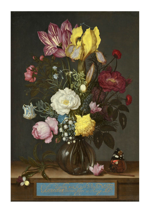 Ambrosius Bosschaert the Elder - Bouquet of Flowers in a Glass Vase
