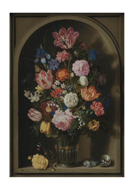 Ambrosius Bosschaerts the Elder Bouquet of Flowers in a Stone Niche