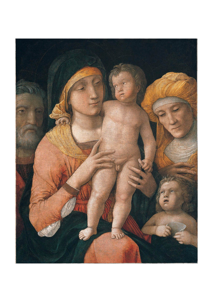 Andrea Mantegna - The Madonna and Child with Saints Joseph Elizabeth and John the Baptist