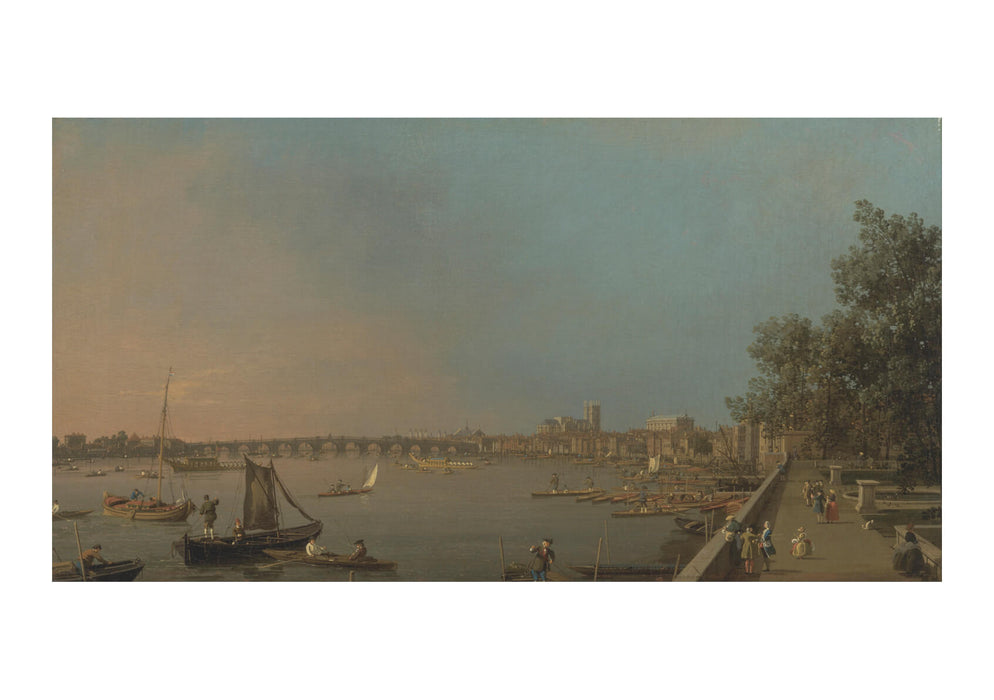 Canaletto - The Thames from the Terrace of Somerset House Looking toward Westminster