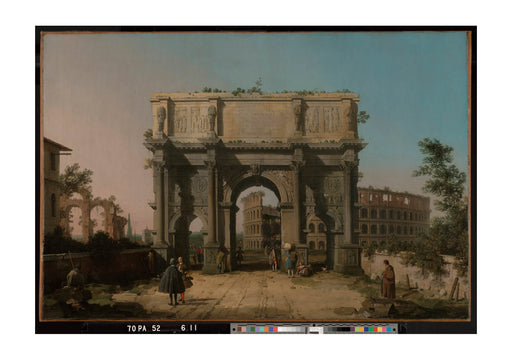 Canaletto - View of the Arch of Constantine with the Colosseum