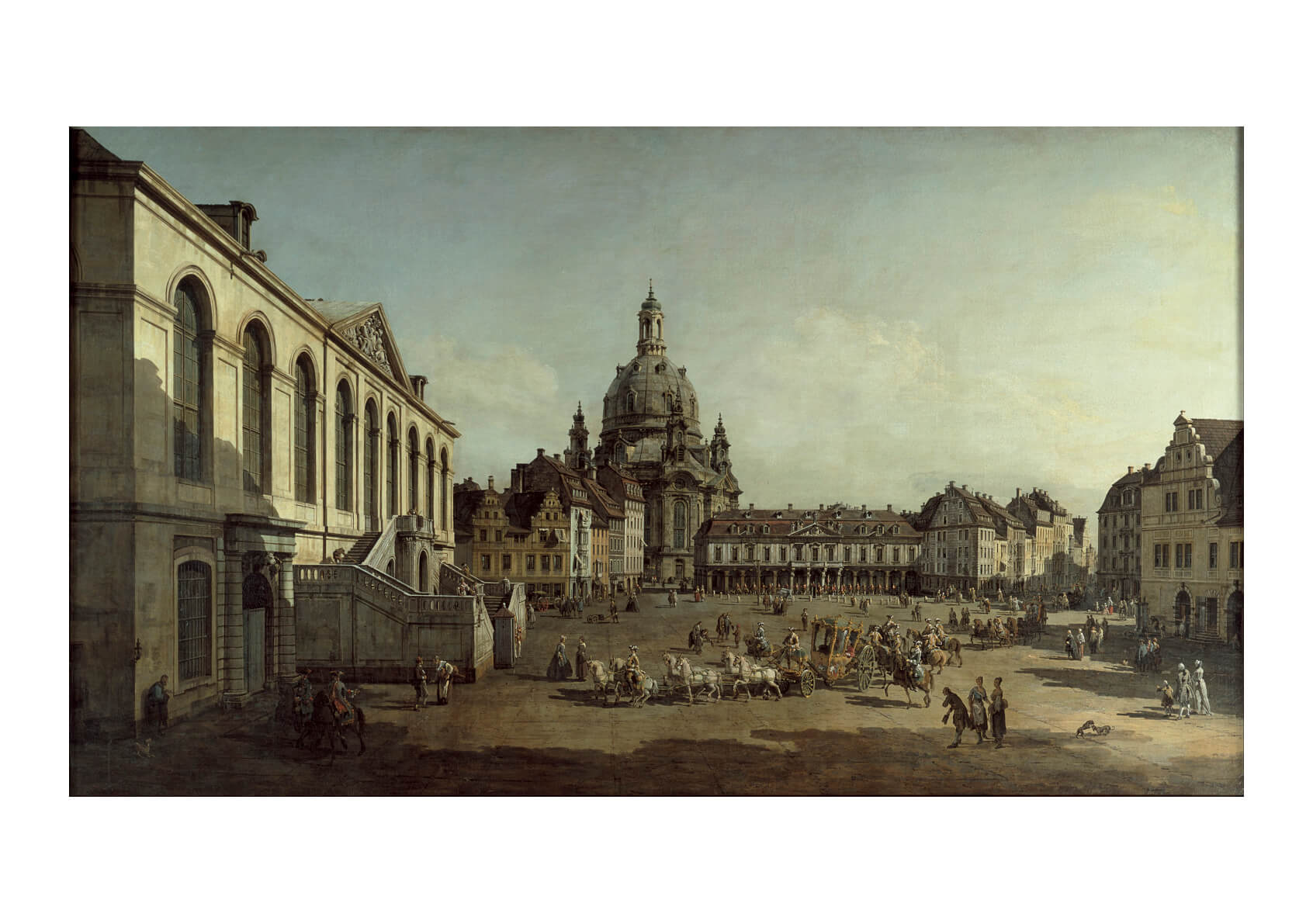 Canaletto - View of the Neumarkt in Dresden