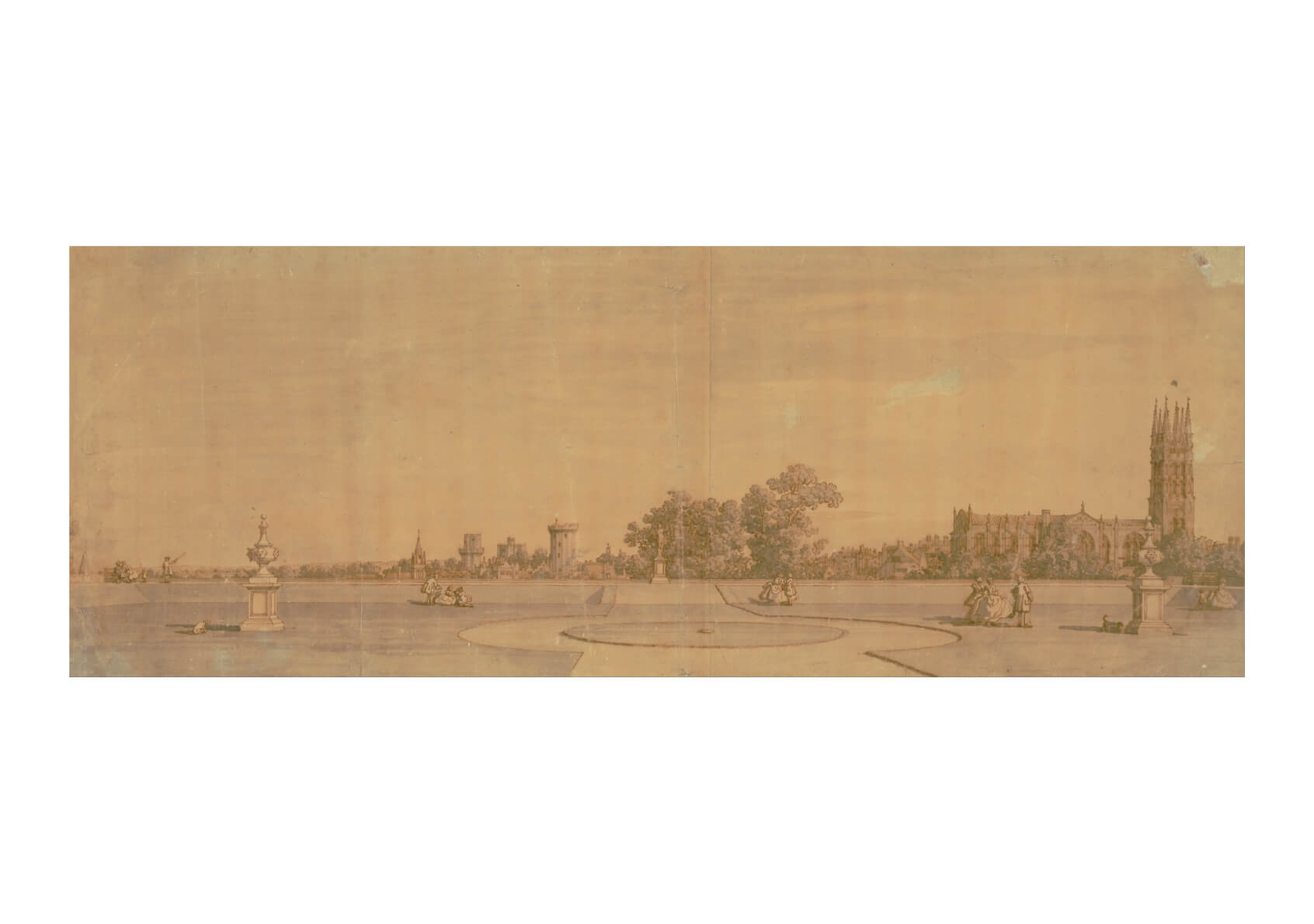 Canaletto - Warwick- Town And Castle From Priory Gardens