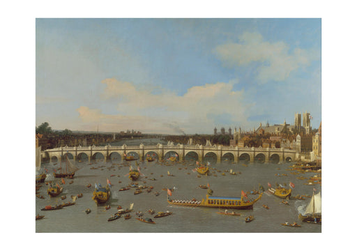 Canaletto - Westminster Lord Mayor's Procession on the Thames