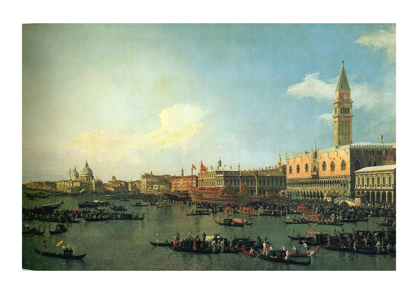 Canaletto The Bucintoro Preparing to Leave the Molo on Ascension Day