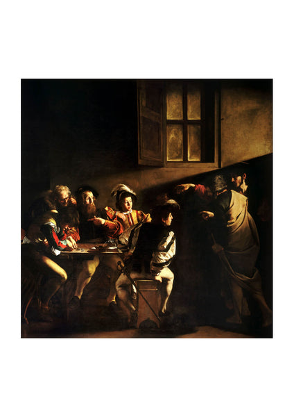 Caravaggio - The Calling of Saint Matthew Caravaggo