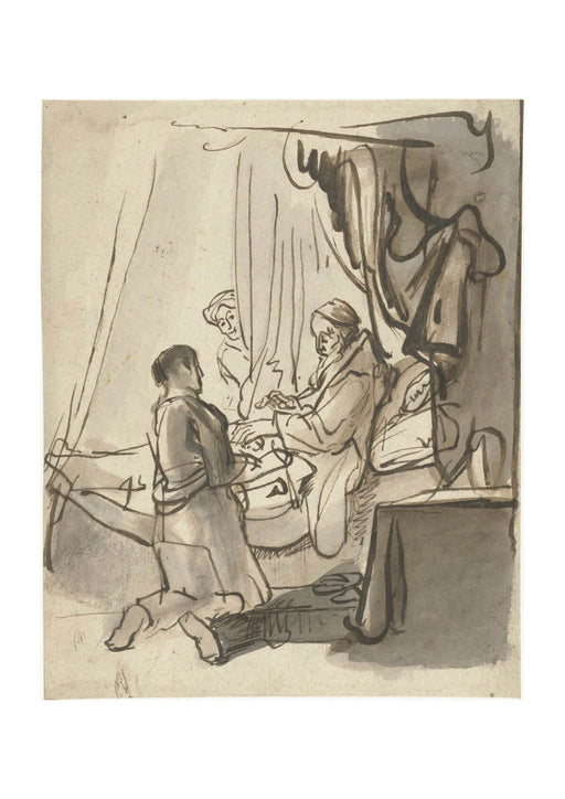 Carel Fabritius - People Sketch