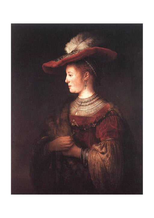 Carel Fabritius - Rembrandt Saskia in pompous dress