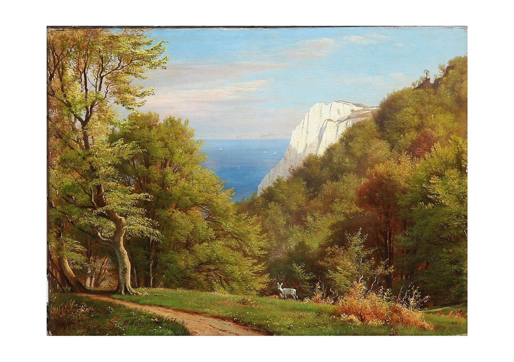 Carl Frederic Aagaard - Summer day on the cliffs