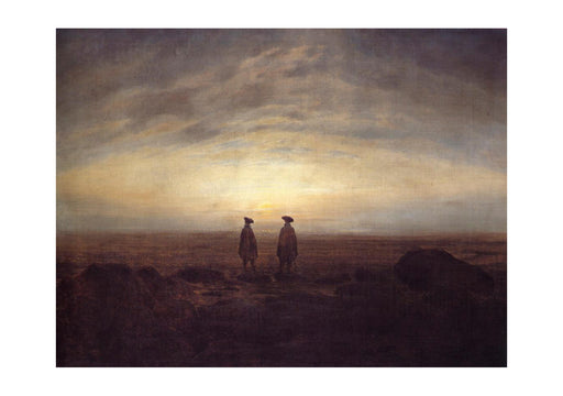 Caspar David Friedrich - Two men by the Sea at Moonise
