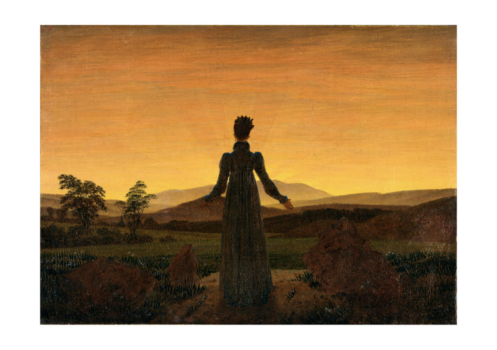 Caspar David Friedrich Woman in Front of the Setting Sun