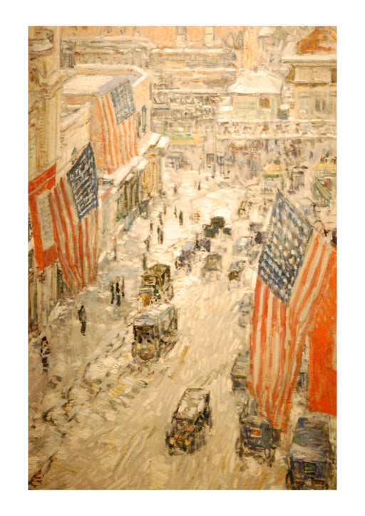 Childe Hassam - WLA nyhistorical Flags on 57th Street