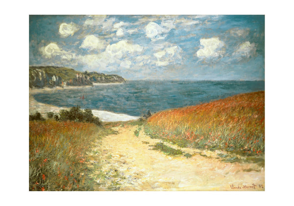 Claude Monet - Beach and Clouds (1882)