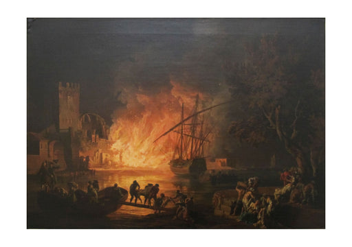 Claude Vernet - Fire on the Tiber