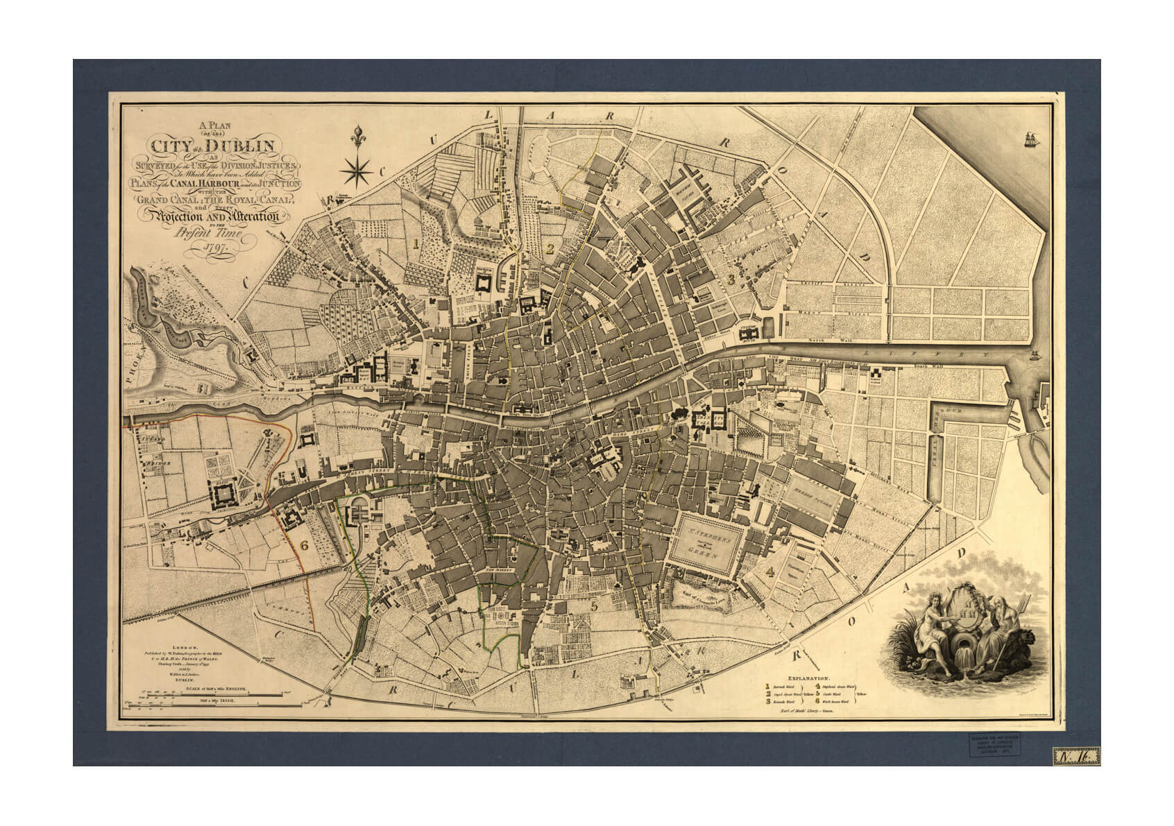 Dublin City Map 1797