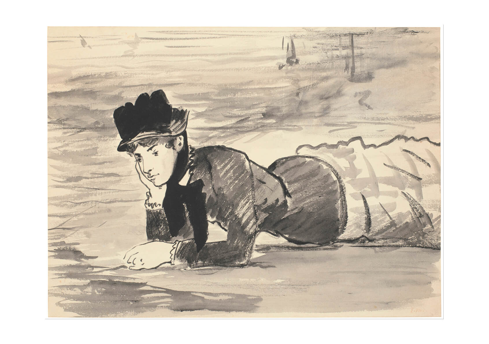 Edouard Manet - Woman Lying on the Beach Annabel Lee