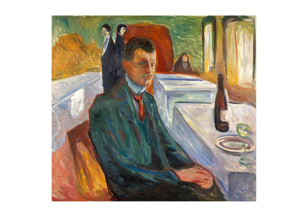 Edvard Munch - Self-Portrait with a Bottle of Wine
