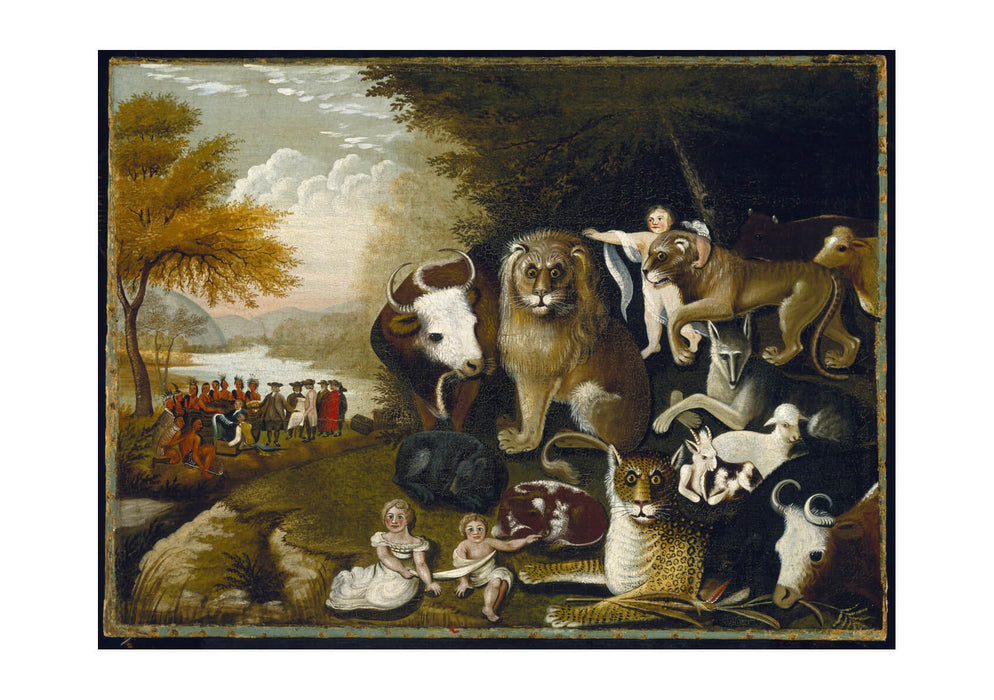 Edward Hicks - The Peaceable Kingdom-3