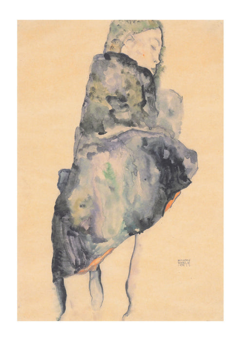 Egon Schiele - Girl Facing Away