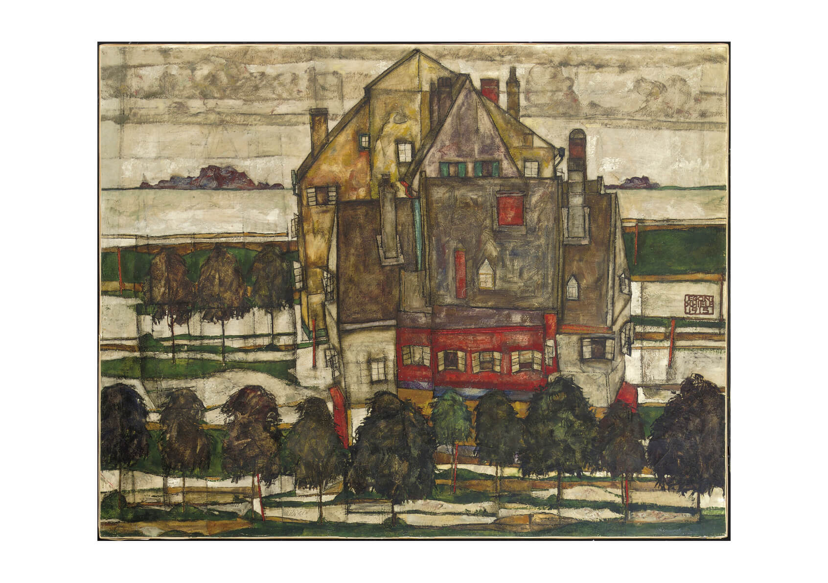 Egon Schiele - Houses in Yellow and Red