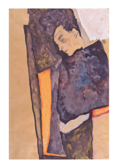 Egon Schiele - Man Leaning over