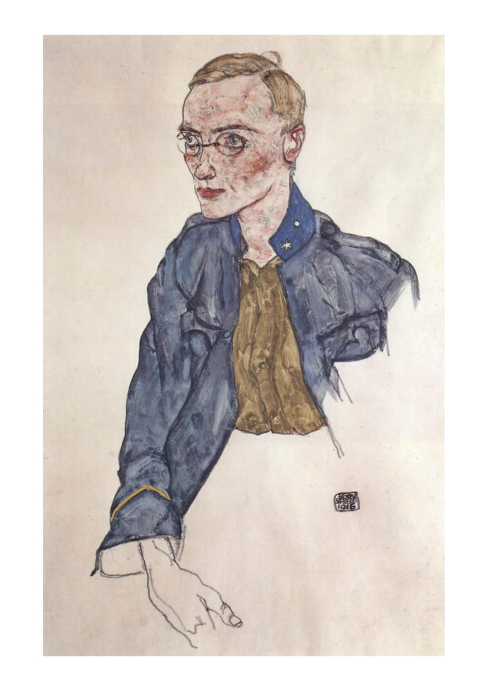 Egon Schiele - Man in Blue