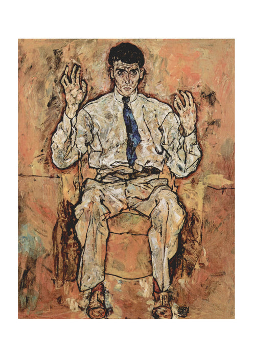 Egon Schiele - Man in Chair