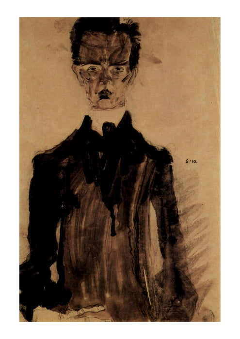 Egon Schiele - Man in Darkness