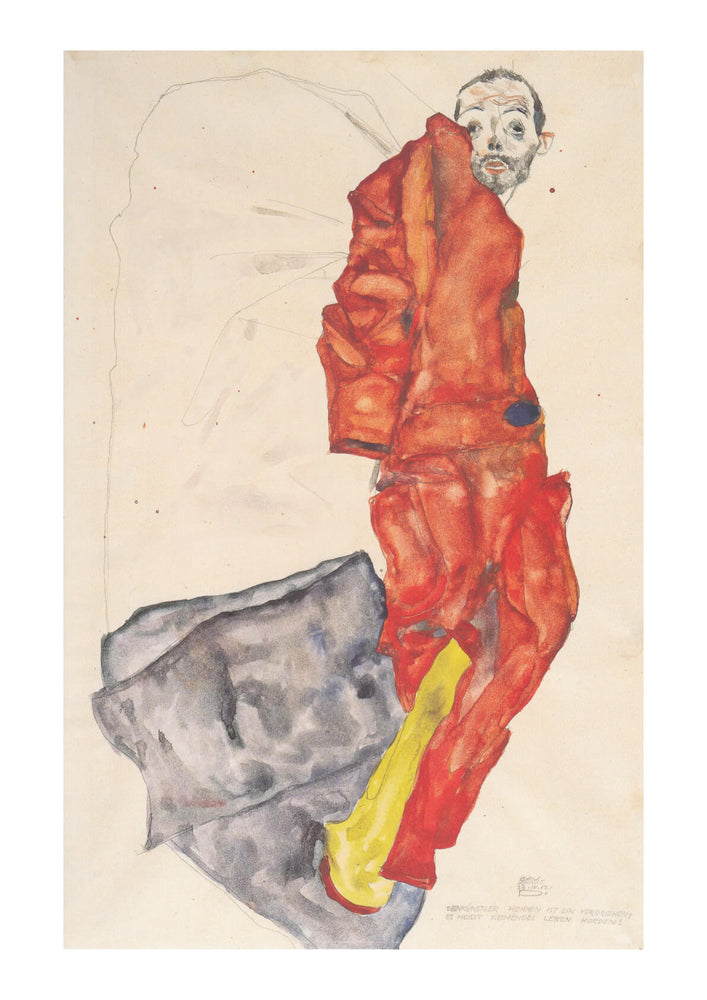 Egon Schiele - Man in Red