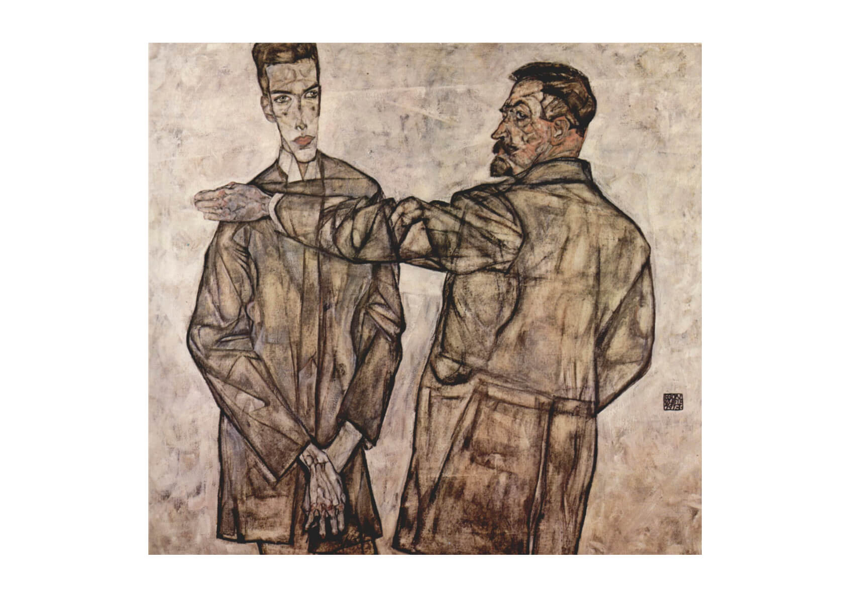 Egon Schiele - Men in Jackets