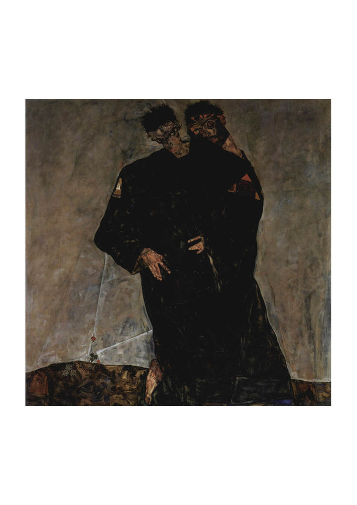 Egon Schiele - Men in the Dark