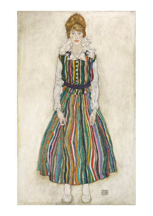 Egon Schiele - Portrait Of Edith The Artist's Wife