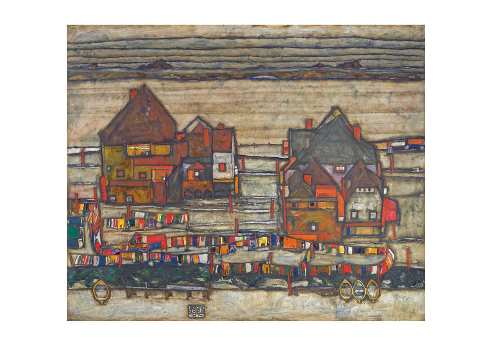 Egon Schiele - Red and Yellow City
