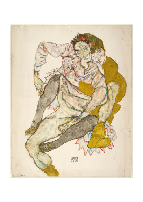 Egon Schiele - Seated Couple 1915