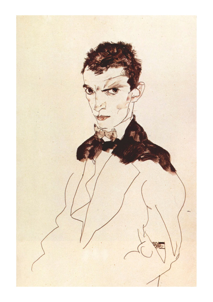 Egon Schiele - Sketch of Man