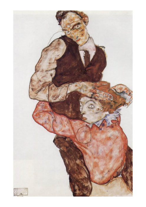 Egon Schiele - The Couple
