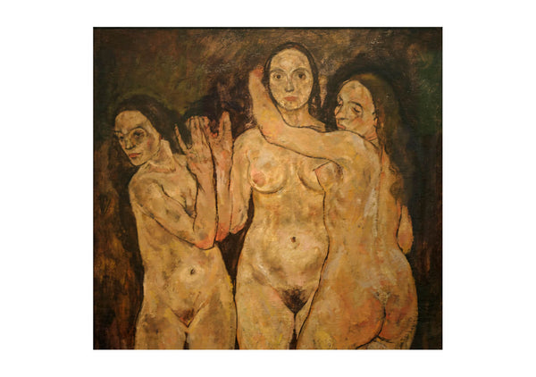 Egon Schiele - Three Standing Women