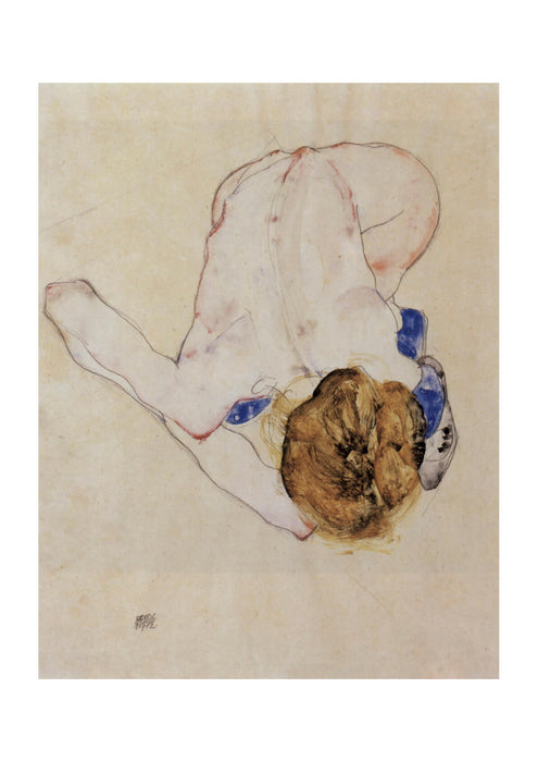 Egon Schiele - Woman Bending Down
