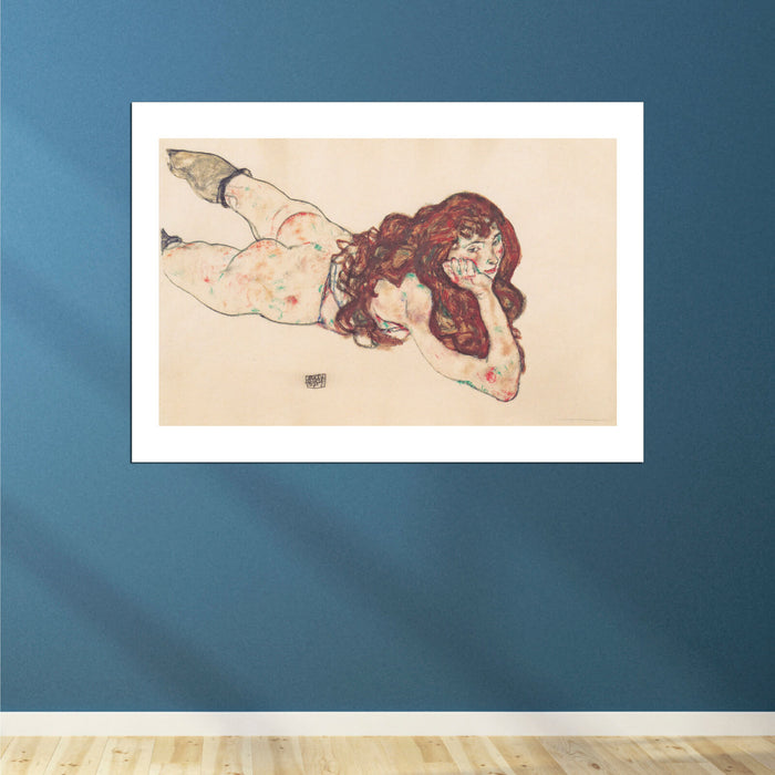 Egon Schiele - Woman Lying Down