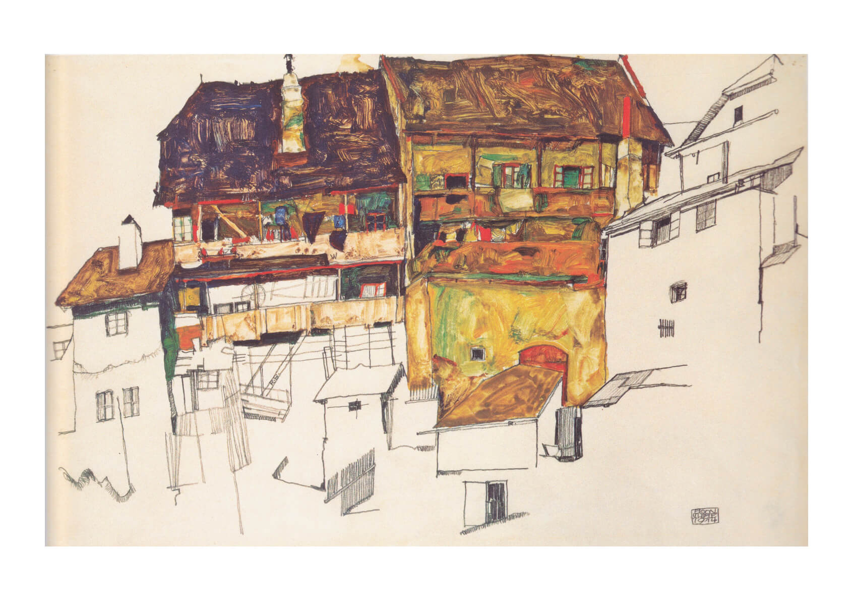 Egon Schiele - Yellow House