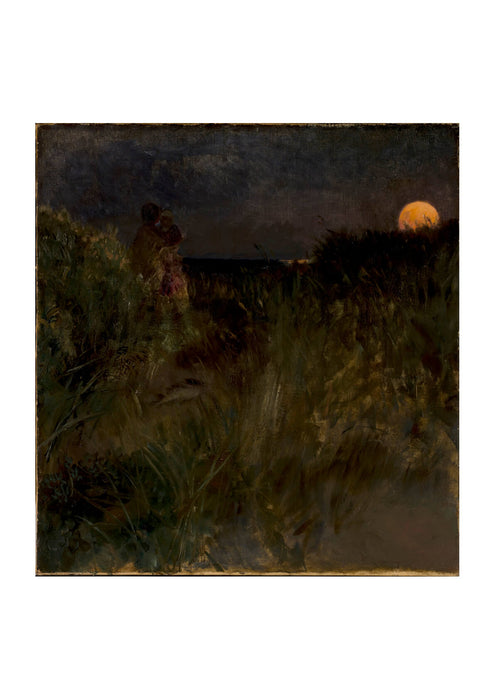 Eilif Peterssen Moonrise over the dunes