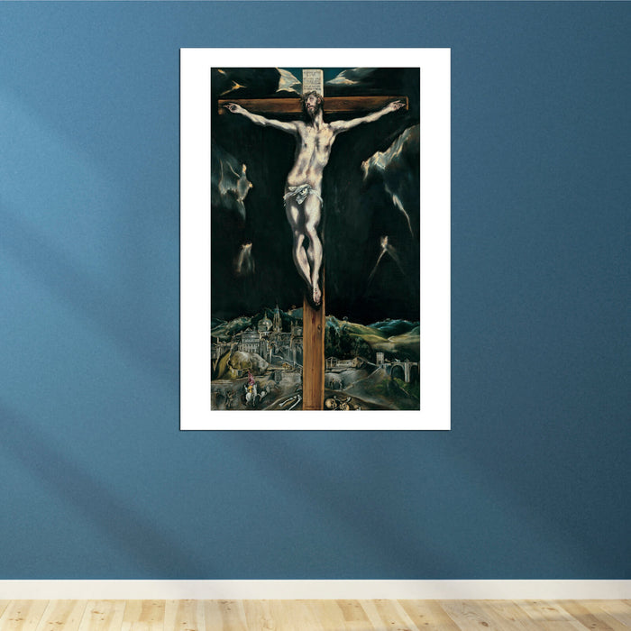 El Greco - Christ crucified with Toledo