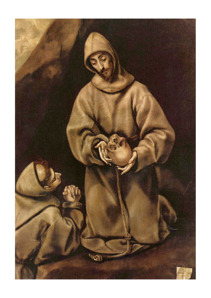 El Greco - Monk and Skull