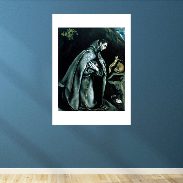 El Greco - St Francis in Prayer before the Crucifix