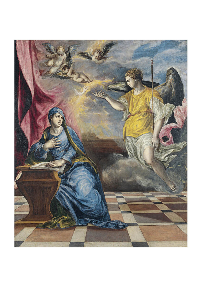 El Greco - The Annunciation Blue and Yellow